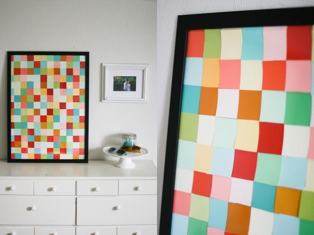 DIY Paint Chip Art-She Loves Happy Blog