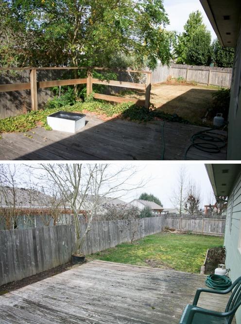 Backyard progress. she loves happy lifestyle blog