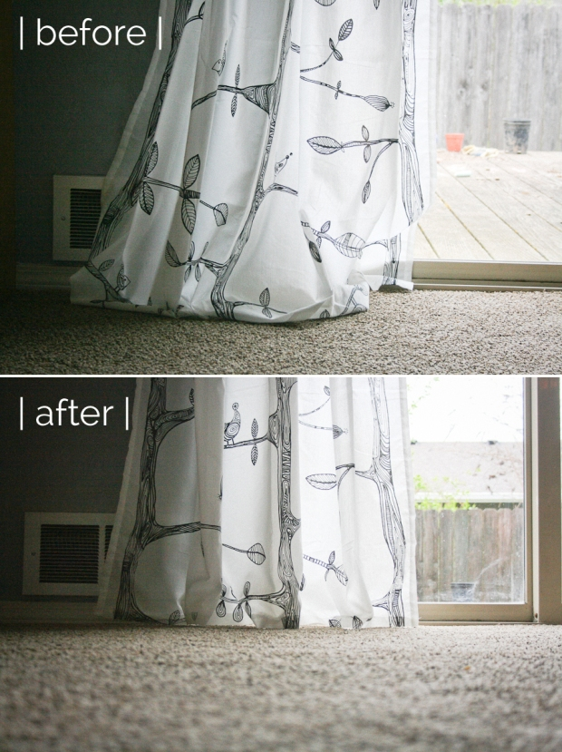 Hem Curtains Before and After