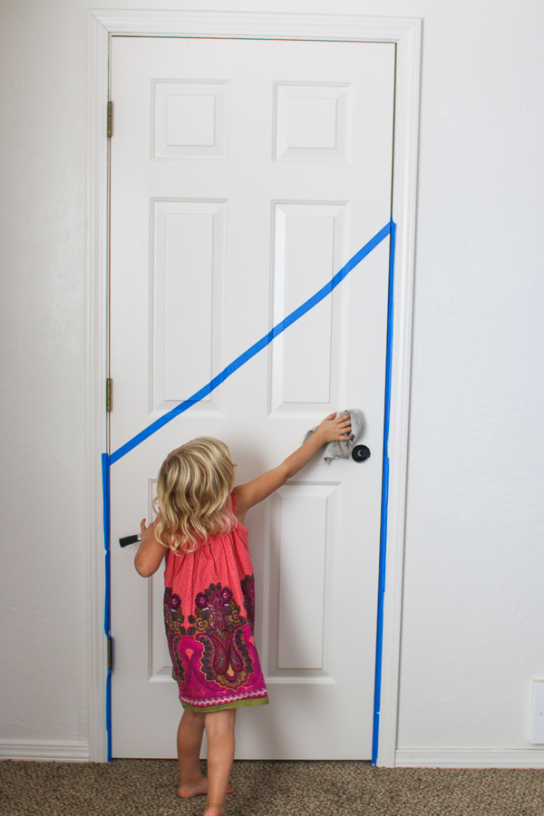 Half Painted Door. Playroom. She Loves Happy Lifestyle Blog (1 of 7)