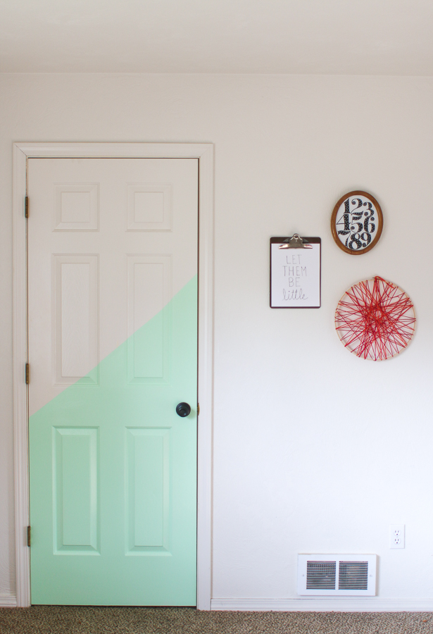 Half Painted Door. Playroom. She Loves Happy Lifestyle Blog (3 of 7)