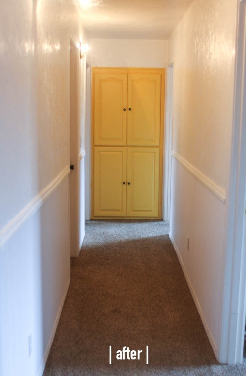 Hallway Wainscoting. She Loves Happy Lifestyle Blog  (2 of 3)