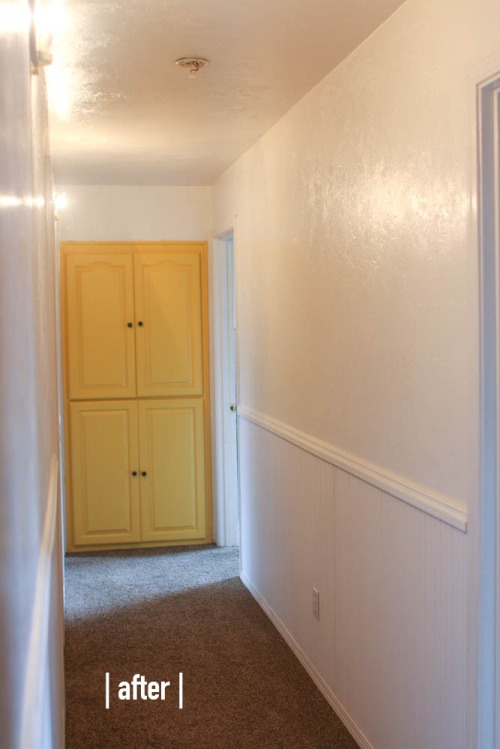 Hallway Wainscoting. She Loves Happy Lifestyle Blog  (3 of 3)