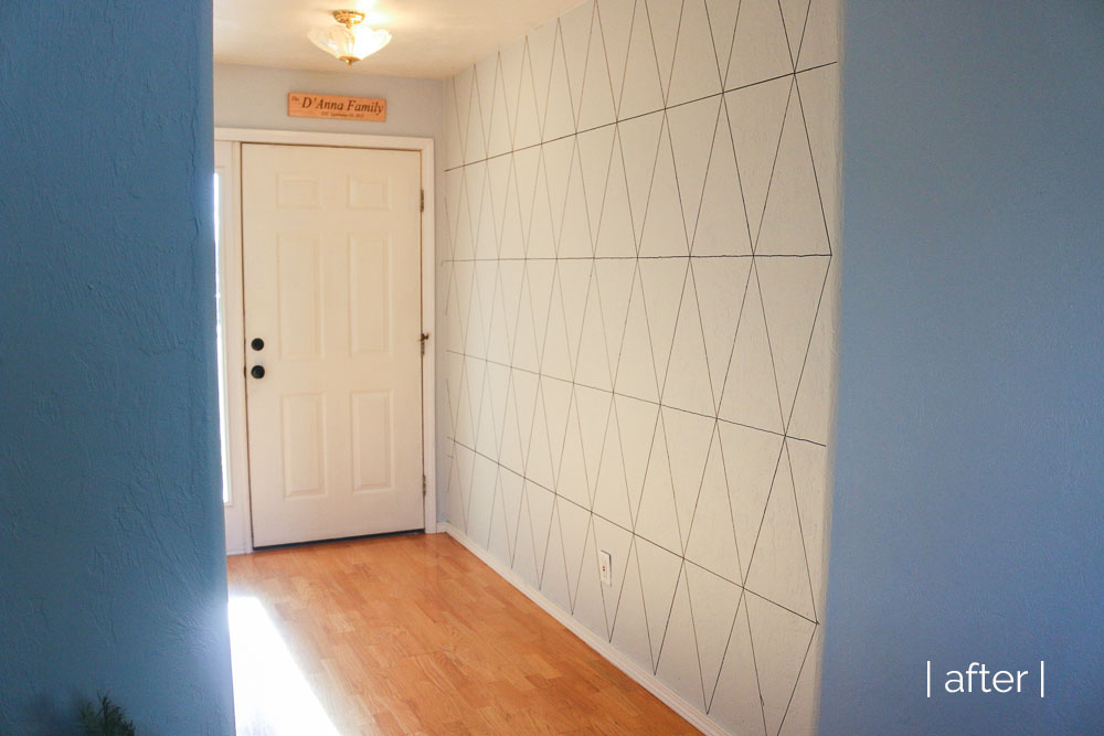 Geometric accent wall she loves happy for Geometric accent wall